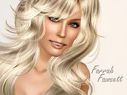 farrah fawcett hair color ms blue s farrah fawcett