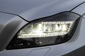 mercedes headlights 2012 mercedes benz cls63 amg led headlight eurocar news