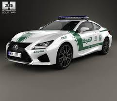 lexus dubai lexus rc f police dubai 2015 3d model hum3d