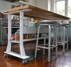 Kitchen Island With Wheels Kitchen Island On Wheels With Seating Pictures Regard To Small