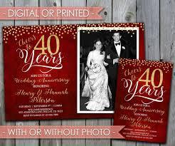 40th anniversary invitations best 25 wedding anniversary invitations ideas on 50th