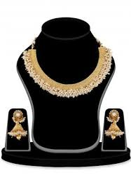 white pearl necklace designs images Pearl jewelry online buy peary jewelry sets in latest designs jpg