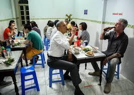 anthony bourdain chews the fat with president obama on cnn u0027s