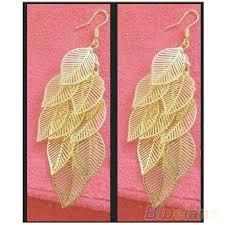 saudi arabia gold earrings womens vintage bohemian tassel eardrop dangle gold leaf earrings
