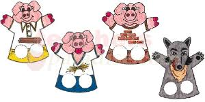 pigs puppets printable clipart free clipart