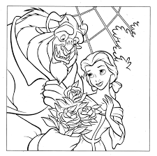 disney beauty beast coloring pages getcoloringpages