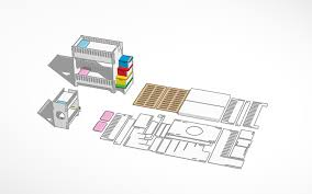 Bunk Bed Screws 3d Design Bunk Bed With No Screws Beta Tinkercad