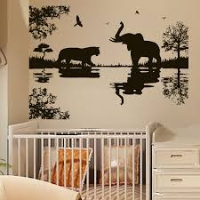 African Safari Home Decor Wall Stickers African Tree Color The Walls Of Your House