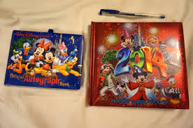 personalized autograph books disney character autograph book ideas canadian disney