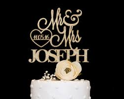 gold wedding cake topper wedding cake topper etsy
