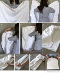 Folding Bed Sheets How To Fold Sheets Duo Ventures Organizing The Linen Closet