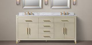 Restoration Hardware Bathroom Cabinets Bath Furniture Collections Rh
