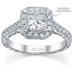 what is milgrain ring anatomy of engagement rings