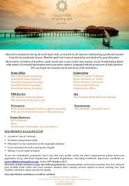 Spa Front Desk Job Description Spa Therapist Job Vacancy At Olhuveli Beach U0026 Spa Maldives