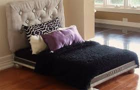 Covered Dog Bed Luxury Dog Bed For The Pampered Pup Covered Headboard Mattress