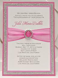 Sample Of An Invitation Card Quinceanera Invitation Sample Thebridgesummit Co