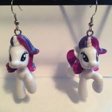 my pony earrings squishy pops earrings my pony rarity made from by erinetc