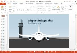 animated airport and travel powerpoint templates