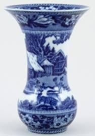 Wedgwood Vase Wedgwood Fallow Deer Vase C1930 Lovers Of Blue And White