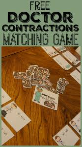 free doctor contractions matching game this is such a fun way
