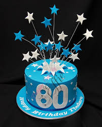 square chocolate presents 80th birthday cake suitable for males