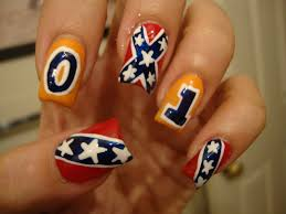 rebel flag nail designs 30 day nail challenge day 28