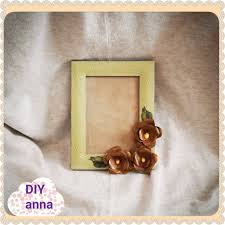 decoupage shabby chic picture frame with roses diy ideas