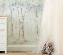 Nursery Wall Mural Decals Lhuillier Ethereal Peel Stick Wall Mural Pottery Barn