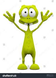 alien cartoon please dont shoot surrender stock illustration