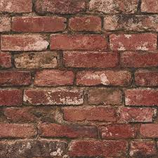 brewster fd31285 rustic brick wallpaper red amazon co uk diy