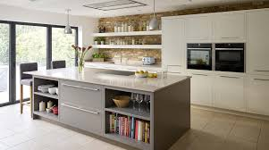 Kitchen Design Nottingham by A Two Tone Linear Kitchen Design With Exposed Brick Wall From
