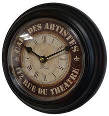 Pendules Murales Cuisine by Horloge Murale En Fer Noir Avec Vitre En Plexiglass Pendule De