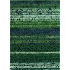 Polypropylene Area Rugs by Oriental Weavers Contemporary Green Blue Polypropylene Abstract
