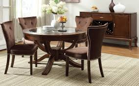 Acme Dining Room Sets by Acme 60022 Kingston 5pcs Round Brown Cherry Pedestal Dining Set