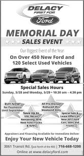 memorial day sales event delacy ford