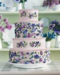 blue and purple wedding cakes martha stewart weddings