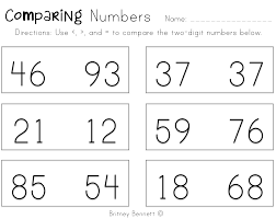 comparing numbers worksheets 3rd grade worksheets