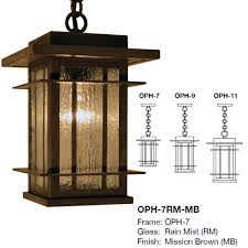 Crafstman by Arroyo Craftsman Oph Oak Park Craftsman Exterior Pendant Lighting