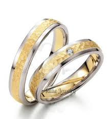 wedding bands sets his and matching matching wedding rings10k two tone gold diamond wedding bands