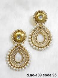 earrings online shopping moti earrings new polki stylish pearl earring online shopping