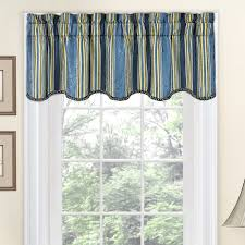 Cheap Curtains And Valances Traditions By Waverly Stripe Ensemble Scalloped 52 Curtain