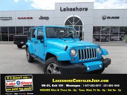 jeep wrangler turquoise for sale new 2017 jeep wrangler unlimited sahara 4x4 for sale muskegon mi