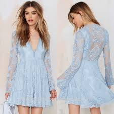 light blue long sleeve dress latest girls fashion desgins dress mesh long sleeve dress flower