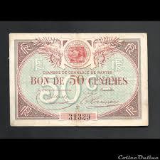 chambre de commerce nantes billet de necéssité 50 centimes 1923 chambre de commerce nantes