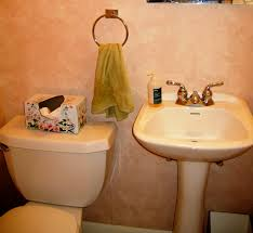Orange Powder Room Stranded In Cleveland Powder Room Makeover Decorating Small