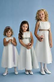 white girls infant flower dresses with contrasting bow