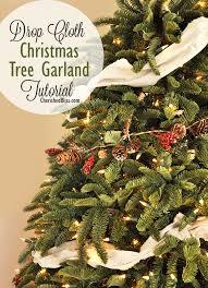 drop cloth tree garland tutorial cherished bliss