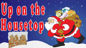 christmas songs for children with lyrics up on the housetop