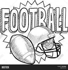 american football sketch vector u0026 photo bigstock