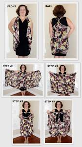 10 ways to turn a scarf into a vest instead of creating one way to